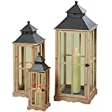 best french country outdoor kitchen Whole House Worlds The Extra Tall French Country Style Rustic Lanterns, Set of 3, Chateaux Style, Metal Roof, Swing Latch, Cross Post Glass Panels, Natural Wood Frames, From 2 to Over 3 FT Tall, By