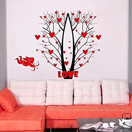 Syga 'Love Heart' Wall Sticker (PVC Vinyl, 61 cm x 5 cm x 5 cm) Wall Stickers at amazon