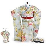 "CARPATINA Sun Japanese Kimono, Obi Sash and Sandals ~ Fits 18"" American Girl Dolls"