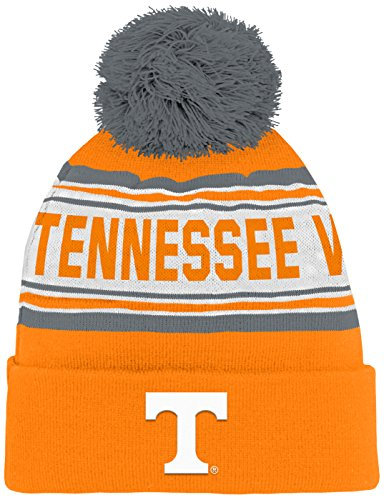 NCAA by Outerstuff NCAA Tennessee Volunteers Kids & Youth Boys Jacquard Cuffed Knit Hat w/ Pom, Light Orange, Youth One Size -