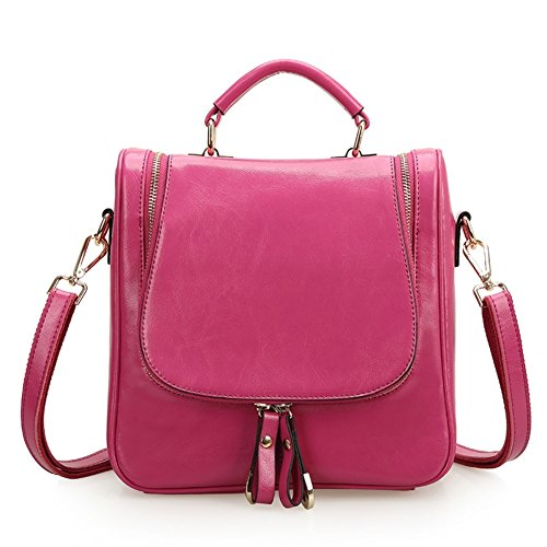 HOBOP JHB700057C3 Fashion Genuine Leather European And American Style Women's Handbag,Box (Kathy Van Zeeland Back Zip Satchel)