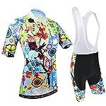 51KQbTSPuWL. SS150 BXIO Abbigliamento Ciclismo Donna, Maglie Ciclismo Maniche Corte con Pantaloncini Ciclismo da Ciclismo Asciugatura…