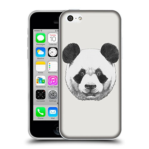 GoGoMobile Coque de Protection TPU Silicone Case pour // Q05300631 Panda Platine // Apple iPhone 5C