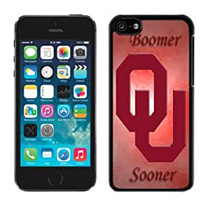 Fashionable And Unique Custom Designed With NCAA Big 12 Conference Big12 Football Oklahoma Sooners 10 Protective Cell Phone Hardshell Cover Case For iPhone 5C Phone Case Black