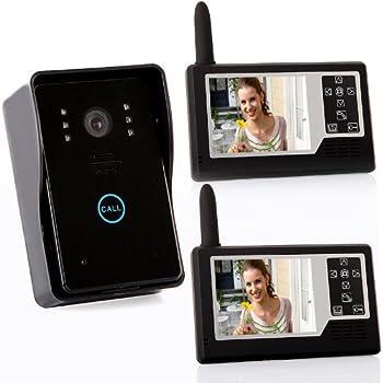 Docooler® 2.4G 3.5 inch TFT Wireless Video Door Phone Intercom Doorbell Home Security 1-camera 2-monitors