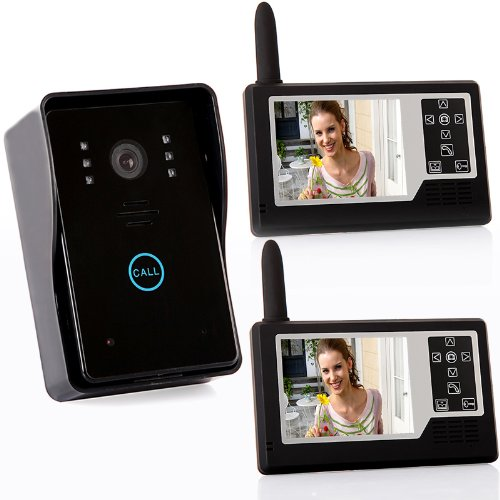 Docooler® 2.4G 3.5 inch TFT Wireless Video Door Phone Intercom Doorbell Home Security 1-camera 2-monitors