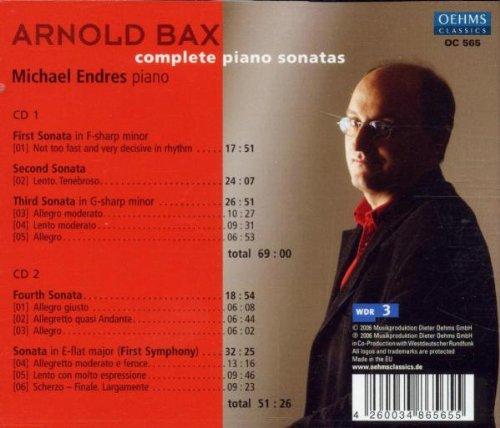 Arnold Bax: Complete Piano Sonatas / Symphony No.1 (transcribed for solo piano)