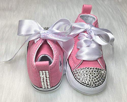 69d7c8f172f7 Bling Baby Authentic Crib Shoes in Pink plus MORE Colors NOW ~ Infant Sizes  ~ Customized