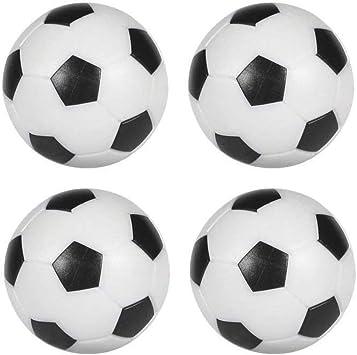 Devessport - Futbolín - Paquete de 4 Bolas de 35mm - Fabricadas en plástico - Bolas de futbolín de Repuesto - Color Blanco / Negro - Plástico Compacto, Resistente y sin rugosidades: Amazon.es: Juguetes y juegos