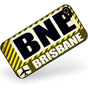 Rubber Case for iphone 4 4s Airportcode BNE Brisbane - Neonblond