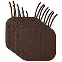 4 Pack: Ellington Home Non Slip Memory Foam Seat Cushion...