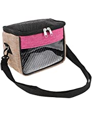 Balacoo Hamster Carrier Bag Pet Travel Carrier for Hedgehog Hamster Mouse Rat Small Guinea Pig Gerbil Sugar Glider Pouch Breathable Mesh for Travel