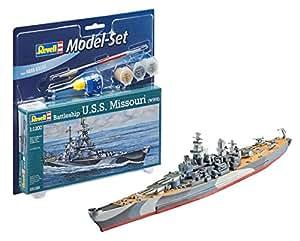 Revell 65128 Modelo de Barco U.S.S. Missouri 1: 1200: Amazon ...