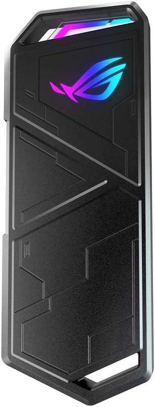ASUS ROG Strix Arion - Caja de SSD M.2 NVMe (USB3.2 Gen. 2 de Tipo C 10 Gbps, Cables USB-C a C y USB-C a A, instalación sin Destornillador, Almohadillas térmicas, Compatible con PCIe)