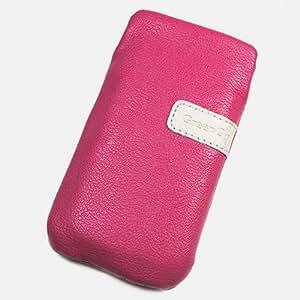 Duragadget-Funda de piel sintética con tapa para Motorola XT760, color rosa
