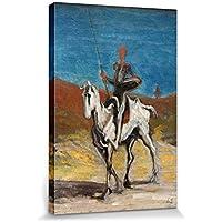1art1 Honoré Daumier - Don Chisciotte E Sancio Panza, 1868 Stampa su Tela (50 x 40cm)