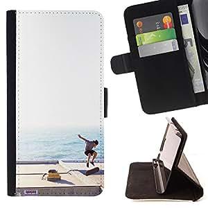 King Case - FOR Samsung Galaxy S4 IV I9500 - not only about survival - Prima caja de la PU billetera de cuero con ranuras para tarjetas, efectivo Compartimiento desmontable y correa para la mu?eca