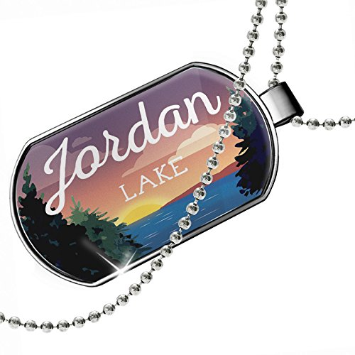 Dogtag Lake retro design Jordan Lake Dog tags necklace - Neonblond by NEONBLOND