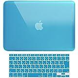 MS factory MacBook Air 13 ケース + 日本語 キーボード カバー ハードケース 全12色カバー RMC series マックブック エア 13.3 インチ Early 2015 対応 クリスタル スカイブルー 水色 RMC-SETA13XSK