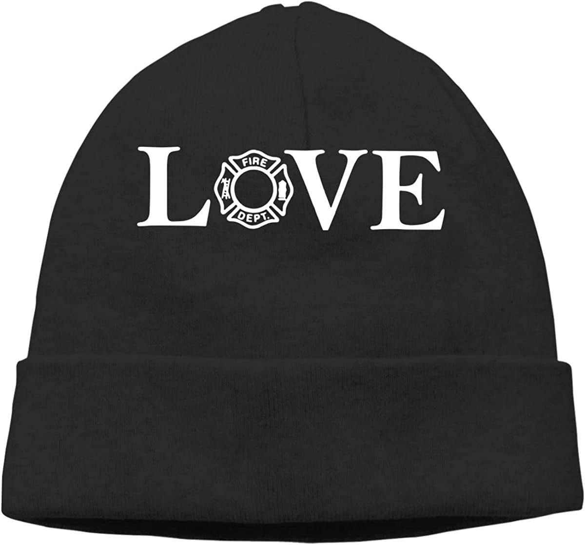 Love Firefighter Men and Women Baggy Sports Beanie Hat