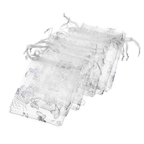 Tovip Wholesale 100PCS Organza Bag Butterfly Design Wedding