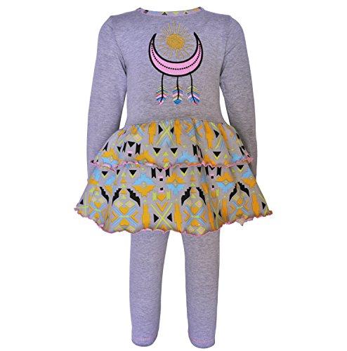 AnnLoren Baby Girls 12-18 mo Boutique Dream Catcher Tunic & Leggings Outfit (Dream Tunic)