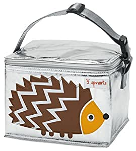 3 Sprouts Lunch Bag, Hedgehog, Brown