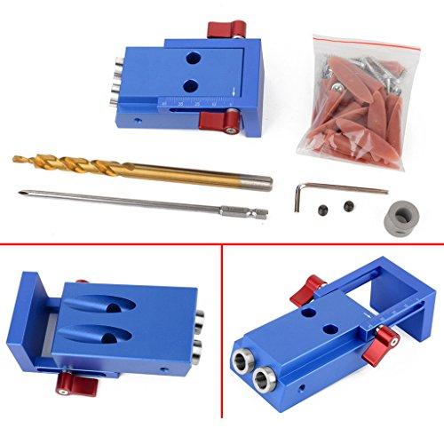Baoblaze Mini Pocket Slant Hole Jig Kit +Step Drilling Drill Bit Tool WoodWork Tool by Baoblaze (Image #4)