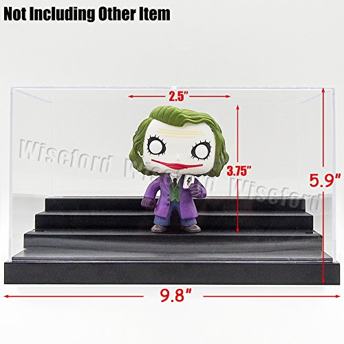 Tingacraft AcrylicDisplayCase/Box(9.4 x 6.3 x 5.1 inch) 4StepsPerspexDustproofShowCase for 3.75 inch Action Figure 1:64 Diecast Car Model (Figurine Display Case Amiibo compare prices)