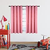 Nursery / Kid's Bedroom Essential Room Draking Curtains with Laser Cutting Out Stars, Star Stamp Cut Draft Blocking Grommet Window Draperies for Girls Bedroom (2 Panels, 52 x63 Inches, Baby Pink)