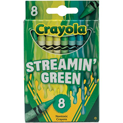 Crayola Meltdown Crayons (8 Pack), Streamin Green -