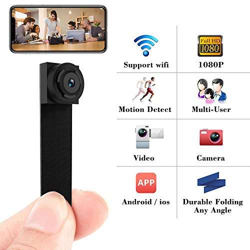 Spy Camera 1080P Hidden Mini Camera Wifi Wireless Small Port