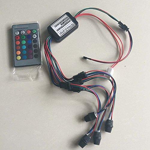 Rayauto 24key Remote RGB 2W DC 12V Car Home Light Side Glow Fiber Optic light Source illuminator Power Engine Supply 4 Head by Raysell