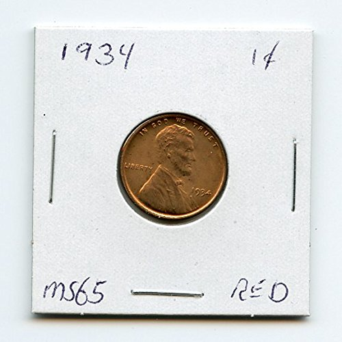 1934 Lincoln Cent Penny MS-65