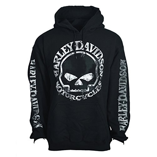H D Mens Hooded Pullover Sweatshirt