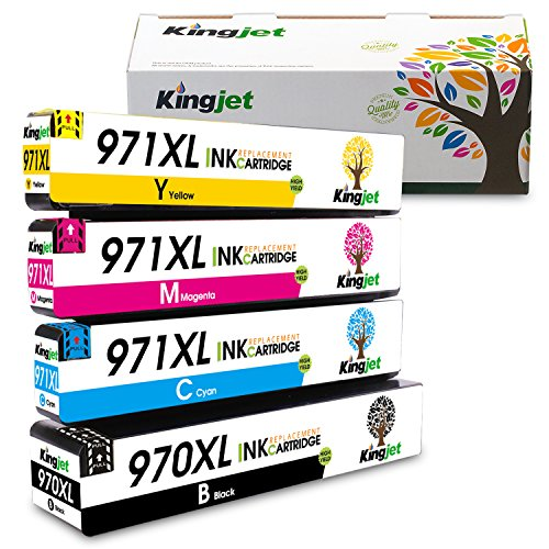 nk Cartridge Replacement for 970XL 971XL Work with Officejet Pro X576dw X451dn X451dw X476dw X476dn X551dw Printers, (4 Pack) ()