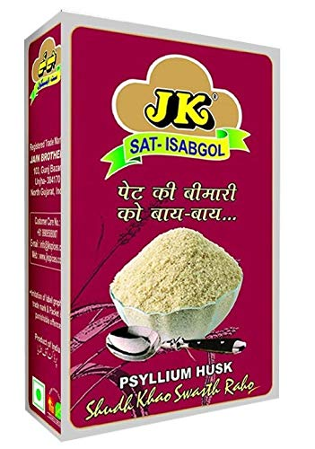 JK Psyllium Husk (Sat-Isabgol/Bhusi/Natural Laxative - Great Remedy For Constipation, Diarrhoea & Weight Loss, No Side effects) 3.53 Oz / 100G