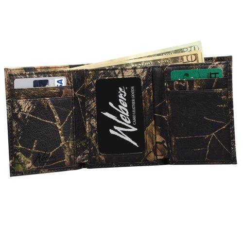 Mossy Oak Leather Trifold Wallet Webers Genuine Break Up Camo Leather Wallet (MOBU All Camo Leather Tri-Fold Wallet)