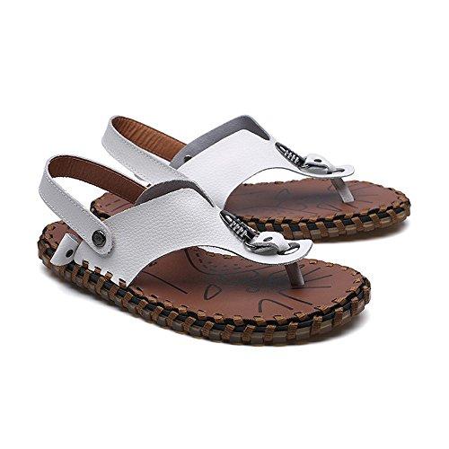 White Libre Size Hombre Dos Playa Casuales Aire Sandalias EU Sandalias Color de Desgaste Verano Zhou Zapatillas métodos 40 al para Zapatillas Sharon White Adolescentes de qwaRpnx071
