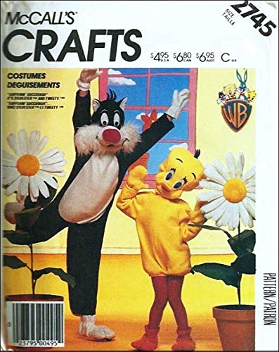 Tweety Bird And Sylvester Costumes - McCall's 2745 Children's Sylvester and Tweety