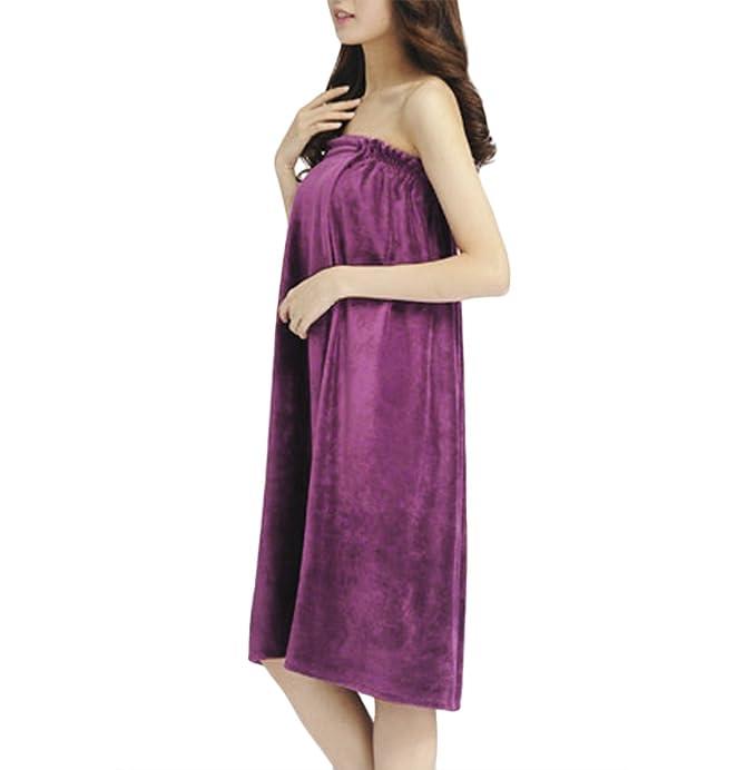 Liying – Toalla para envolver el cuerpo, para mujer, absorbente, bata sin tirantes, bata para cubrirse, vestido entubado para Spa, bata-toalla para bañarse, ...