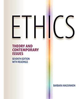 Ethics theory and contemporary issues 7th edition barbara.