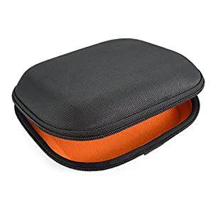 SONY MDR-ZX100, ZX300, ZX310, XB200, ZX102DPV, Sennheiser HD219, HD229, HD239, HD218 Headphone Full Size Hard Carrying Case / Travel Bag with Space for Cable, AMP, Parts and Accessories (Black)