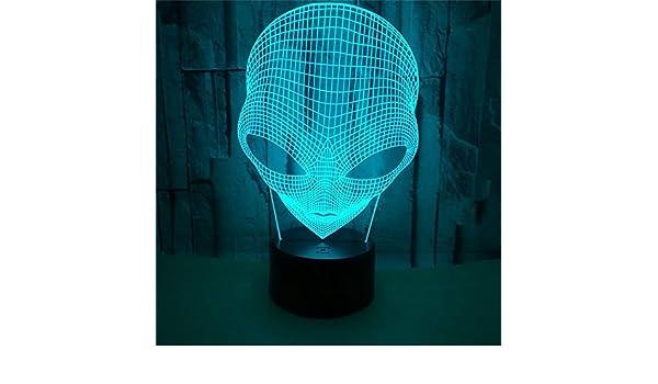 3D Lámpara Óptico Illusions Luz Nocturna, Extraterrestre Ojo ...