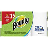 Bounty Paper Towels, White, 6 Huge Rolls