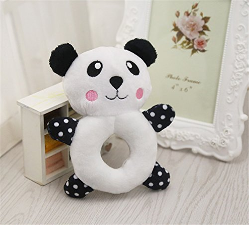Animals Cartoon Dog Toys Stuffed Squeaking Pet Toy Plush Puppy Squirrel For Dogs Cat Chew Squeaker Squeaky Toy For Pet panda 16X13CM