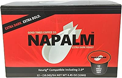 Napalm Coffee, EXTRA DARK ROAST, Keurig K-Cups for Keurig Brewers