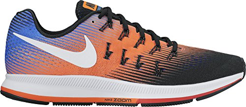 Nike Herren Air Zoom Pegasus 33 Schwarz / Weiß - Hyper Orange