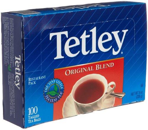 Tetley Tea, Original Blend, 100-Count Tea Bags (Pack of 6)