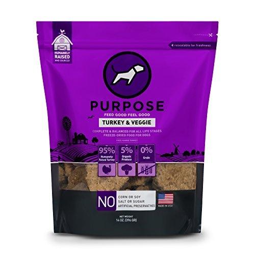 Purpose Freeze Dried Turkey and Organic Veggie Humanely Raised Dog Food 14 Ounce